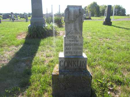 CONKLIN, LYDIA A. - Union County, Ohio | LYDIA A. CONKLIN - Ohio Gravestone Photos