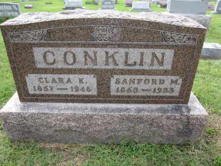 CONKLIN, SANFORD M. - Union County, Ohio | SANFORD M. CONKLIN - Ohio Gravestone Photos