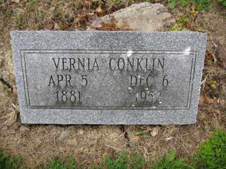 CONKLIN, VERNIA - Union County, Ohio | VERNIA CONKLIN - Ohio Gravestone Photos