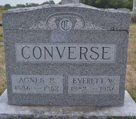 CONVERSE, AGNES B. - Union County, Ohio | AGNES B. CONVERSE - Ohio Gravestone Photos