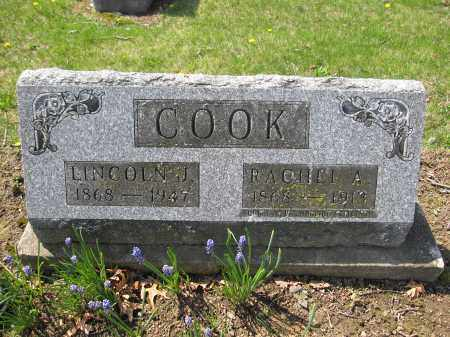COOK, RACHEL A. - Union County, Ohio | RACHEL A. COOK - Ohio Gravestone Photos