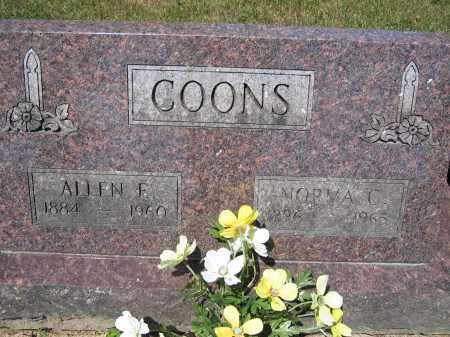 COONS, ALLEN E. - Union County, Ohio | ALLEN E. COONS - Ohio Gravestone Photos