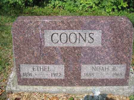COONS, ETHEL - Union County, Ohio | ETHEL COONS - Ohio Gravestone Photos