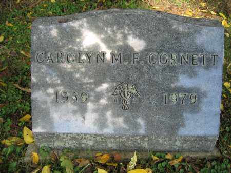 CORNETT, CAROLYN M.F. - Union County, Ohio | CAROLYN M.F. CORNETT - Ohio Gravestone Photos