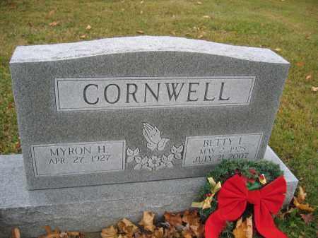 CORNWELL, BETTY L. - Union County, Ohio | BETTY L. CORNWELL - Ohio Gravestone Photos