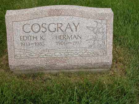 COSGRAY, HERMAN - Union County, Ohio | HERMAN COSGRAY - Ohio Gravestone Photos