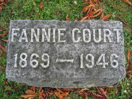 COURT, FANNIE - Union County, Ohio | FANNIE COURT - Ohio Gravestone Photos