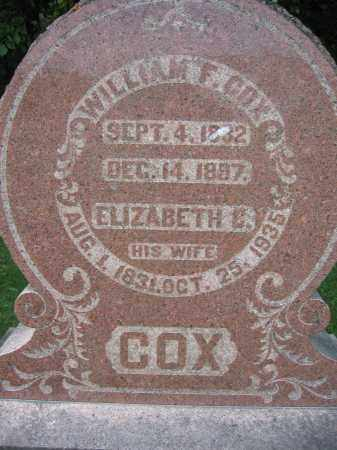 COX, WILLIAM F. - Union County, Ohio | WILLIAM F. COX - Ohio Gravestone Photos