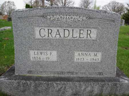CRADLER, LEWIS F. - Union County, Ohio | LEWIS F. CRADLER - Ohio Gravestone Photos