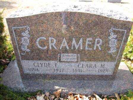 CRAMER, CLYDE E. - Union County, Ohio | CLYDE E. CRAMER - Ohio Gravestone Photos