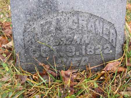 CRAMER, ELIZA - Union County, Ohio   ELIZA CRAMER - Ohio Gravestone Photos