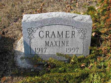 CRAMER, MAXINE - Union County, Ohio | MAXINE CRAMER - Ohio Gravestone Photos