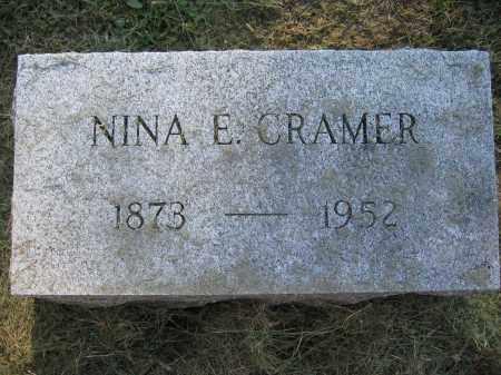 CRAMER, NINA E. - Union County, Ohio | NINA E. CRAMER - Ohio Gravestone Photos