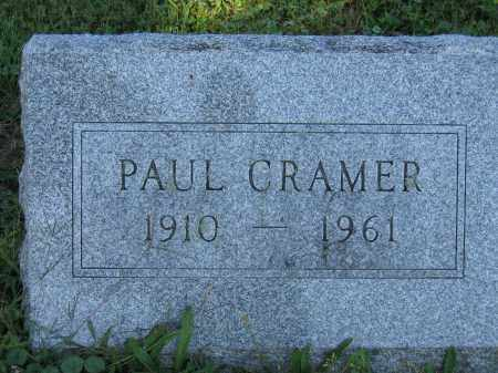 CRAMER, PAUL - Union County, Ohio | PAUL CRAMER - Ohio Gravestone Photos