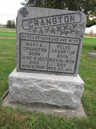CRANSTON, MARY A. - Union County, Ohio | MARY A. CRANSTON - Ohio Gravestone Photos