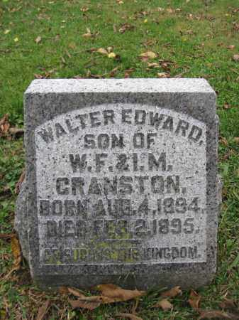 CRANSTON, WALTER EDWARD - Union County, Ohio | WALTER EDWARD CRANSTON - Ohio Gravestone Photos