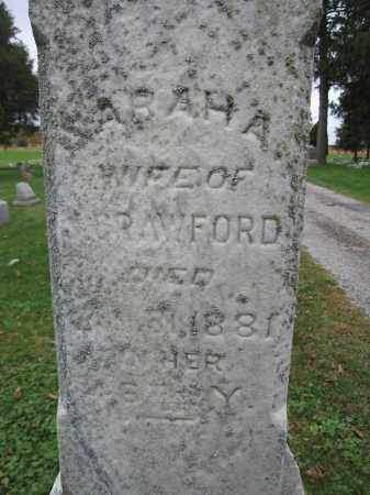 CRAWFORD, SARAH A. - Union County, Ohio | SARAH A. CRAWFORD - Ohio Gravestone Photos