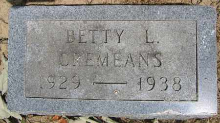 CREMEANS, BETTY L. - Union County, Ohio | BETTY L. CREMEANS - Ohio Gravestone Photos