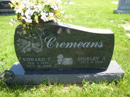 CREMEANS, SHIRLEY A. - Union County, Ohio | SHIRLEY A. CREMEANS - Ohio Gravestone Photos