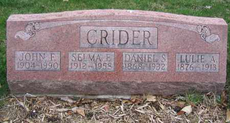 CRIDER, LULIE A. - Union County, Ohio | LULIE A. CRIDER - Ohio Gravestone Photos