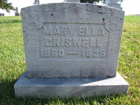 CRISWELL, MARY ELLA - Union County, Ohio | MARY ELLA CRISWELL - Ohio Gravestone Photos