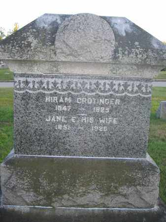 CROTINGER, HIRAM - Union County, Ohio | HIRAM CROTINGER - Ohio Gravestone Photos