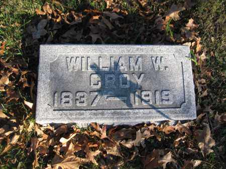 CROY, WILLIAM W. - Union County, Ohio | WILLIAM W. CROY - Ohio Gravestone Photos