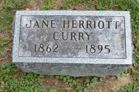 CURRY, JANE HERRIOTT - Union County, Ohio | JANE HERRIOTT CURRY - Ohio Gravestone Photos