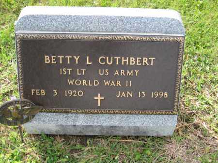 CUTHBERT, BETTY L. - Union County, Ohio | BETTY L. CUTHBERT - Ohio Gravestone Photos