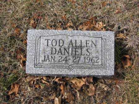 DANIELS, TOD ALLEN - Union County, Ohio | TOD ALLEN DANIELS - Ohio Gravestone Photos