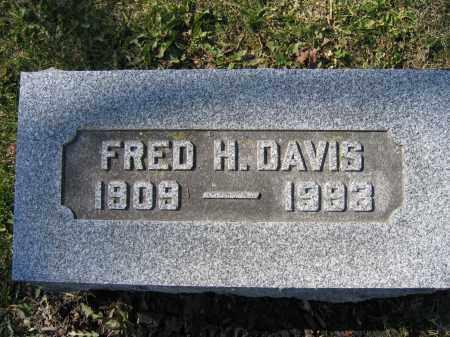 DAVIS, FRED H - Union County, Ohio | FRED H DAVIS - Ohio Gravestone Photos