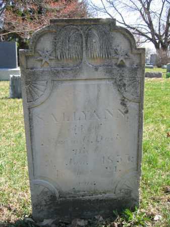 DAVIS, SALLYANN - Union County, Ohio   SALLYANN DAVIS - Ohio Gravestone Photos