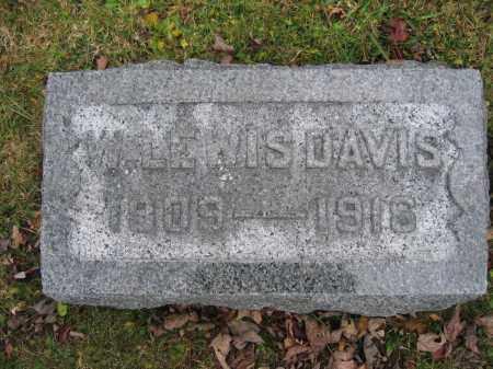 DAVIS, W. LEWIS - Union County, Ohio | W. LEWIS DAVIS - Ohio Gravestone Photos