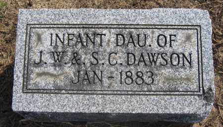 DAWSON, INFANT DAUGHTER - Union County, Ohio | INFANT DAUGHTER DAWSON - Ohio Gravestone Photos