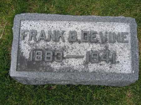 DE VINE, FRANK B - Union County, Ohio | FRANK B DE VINE - Ohio Gravestone Photos