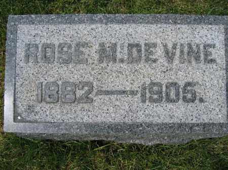 DE VINE, ROSE M. - Union County, Ohio | ROSE M. DE VINE - Ohio Gravestone Photos