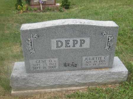 DEPP, JULIETTE C. - Union County, Ohio | JULIETTE C. DEPP - Ohio Gravestone Photos