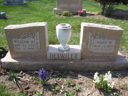 DETWILER, MARY M. - Union County, Ohio | MARY M. DETWILER - Ohio Gravestone Photos