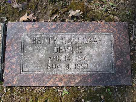 DEVINE, BETTY GALLOWAY - Union County, Ohio | BETTY GALLOWAY DEVINE - Ohio Gravestone Photos
