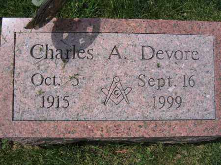 DEVORE, CHARLES A. - Union County, Ohio | CHARLES A. DEVORE - Ohio Gravestone Photos