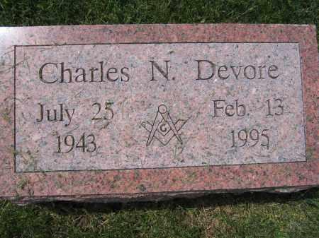 DEVORE, CHARLES N. - Union County, Ohio   CHARLES N. DEVORE - Ohio Gravestone Photos