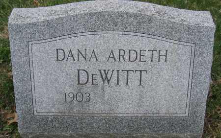 DEWITT, DANA ARDETH - Union County, Ohio | DANA ARDETH DEWITT - Ohio Gravestone Photos