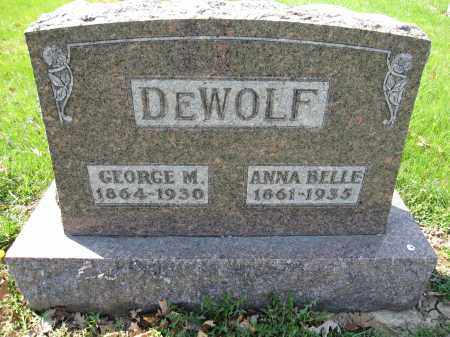 DEWOLF, GEORGE M. - Union County, Ohio | GEORGE M. DEWOLF - Ohio Gravestone Photos