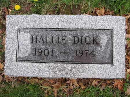 DICK, HALLIE - Union County, Ohio | HALLIE DICK - Ohio Gravestone Photos