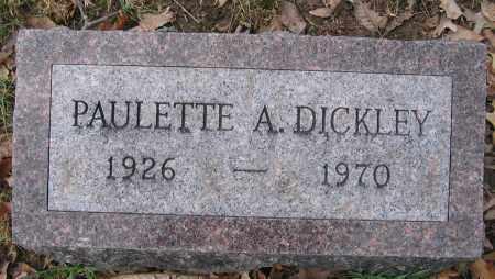 DICKLEY, PAULETTE A. - Union County, Ohio | PAULETTE A. DICKLEY - Ohio Gravestone Photos