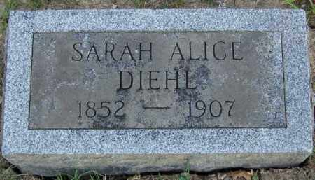 DIEHL, SARAH ALICE - Union County, Ohio | SARAH ALICE DIEHL - Ohio Gravestone Photos