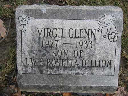 DILLION, VIRGIL GLENN - Union County, Ohio | VIRGIL GLENN DILLION - Ohio Gravestone Photos