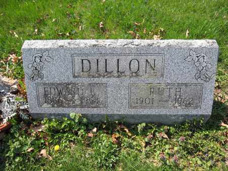 DILLON, EDWARD L. - Union County, Ohio | EDWARD L. DILLON - Ohio Gravestone Photos