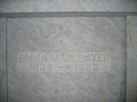 DILSAVER, EMMA M. - Union County, Ohio   EMMA M. DILSAVER - Ohio Gravestone Photos
