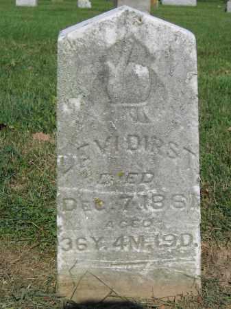DIRST, LEVI - Union County, Ohio | LEVI DIRST - Ohio Gravestone Photos